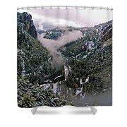 Western Yosemite Valley Shower Curtain by Bill Gallagher