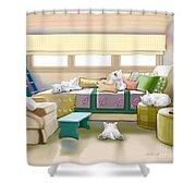 Westie Retreat  Shower Curtain
