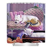 Westies Home Shower Curtain