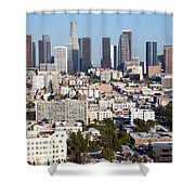 Westlake And Los Angeles Skyline Shower Curtain
