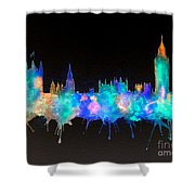 Westminster And Big Ben - Nighttime 1 Shower Curtain