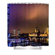 Westminster And Eye Night Glow Shower Curtain