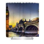Westminster Bridge And Big Ben Shower Curtain