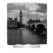 Westminster Pano Bw Shower Curtain