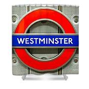 Westminster Underground Logo Shower Curtain