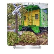 Weston Railroad Crossing Shower Curtain