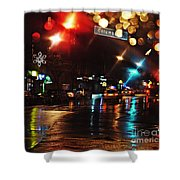 Wet City Shower Curtain