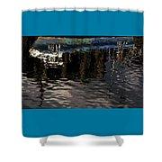 wet fishing boat,kyle of lochalsh Scotland  Shower Curtain