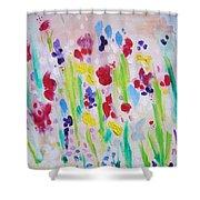 Wet Flowers Shower Curtain