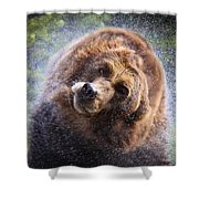 Wet Griz Shower Curtain by Steve McKinzie