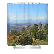 Wet Mountain Valley And Beyond Shower Curtain