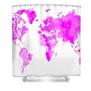 Wet Paint World Map Shower Curtain