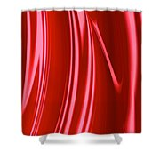 Wet Red Shower Curtain