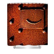 Wet Rivets Number Nine Shower Curtain