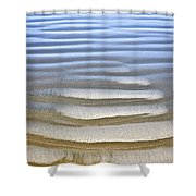 Wet Sand Texture On Ocean Shore Shower Curtain