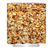 Wet Sawdust Shower Curtain