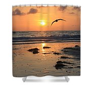 Wet Sunset Shower Curtain