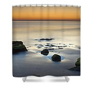 Wet Sunset Reflections Shower Curtain