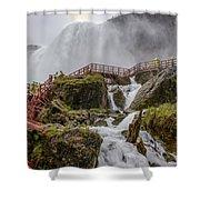 Wet Walk Shower Curtain