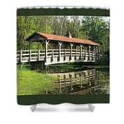 Wetland Footbridge Shower Curtain