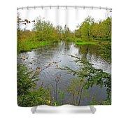 Wetland Greens Shower Curtain