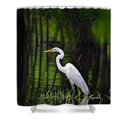 Wetland Wader Shower Curtain