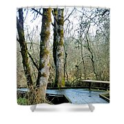Wetlands In March Shower Curtain
