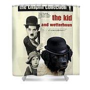 Wetterhoun-frisian Water Dog Art Canvas Print - The Kid Movie Poster Shower Curtain