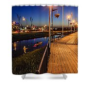 Embankment Of Weyburn Shower Curtain