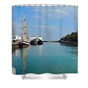 Weymouth Harbour Shower Curtain
