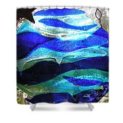 Whale Family At Home Shower Curtain