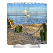 Whale Harbor Shower Curtain