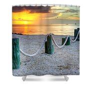 Whale Harbor II Shower Curtain