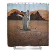 Whale In Desert Shower Curtain