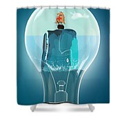 Whale Lights  Shower Curtain