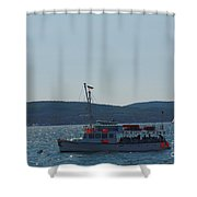 Whale Watching At Bar Harbor Shower Curtain