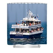 Whale Watching Boat Shower Curtain