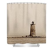 Whaleback Lighthouse Shower Curtain