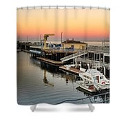 Wharf #2 In Monterey At Sunset Shower Curtain