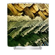 Wharf Reflections Shower Curtain
