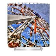 Wharf Wheel Shower Curtain