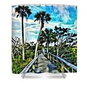 What A Beautiful Boardwalk Shower Curtain