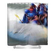 White Water Rafting What A Rush Shower Curtain