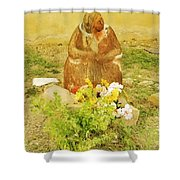 What Am I Doing Here? Shower Curtain