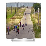 What Comes Down Must Go Up Shower Curtain