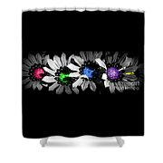 Colored Blind Shower Curtain