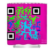 What Is Fine Art Quick Response  Shower Curtain