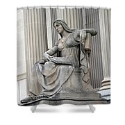 What Is Past Is Prologue Statue At National Archives -- 2 Shower Curtain