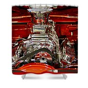What Is Under The Hood-red Customized Retro Pontiac Shower Curtain