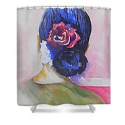What Lies Ahead Series.. Watching Time Go By Shower Curtain